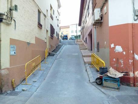 Obras en la calle Valimaña