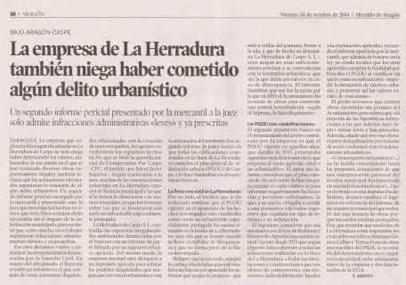 Artículo publicado en Heraldo de Aragón